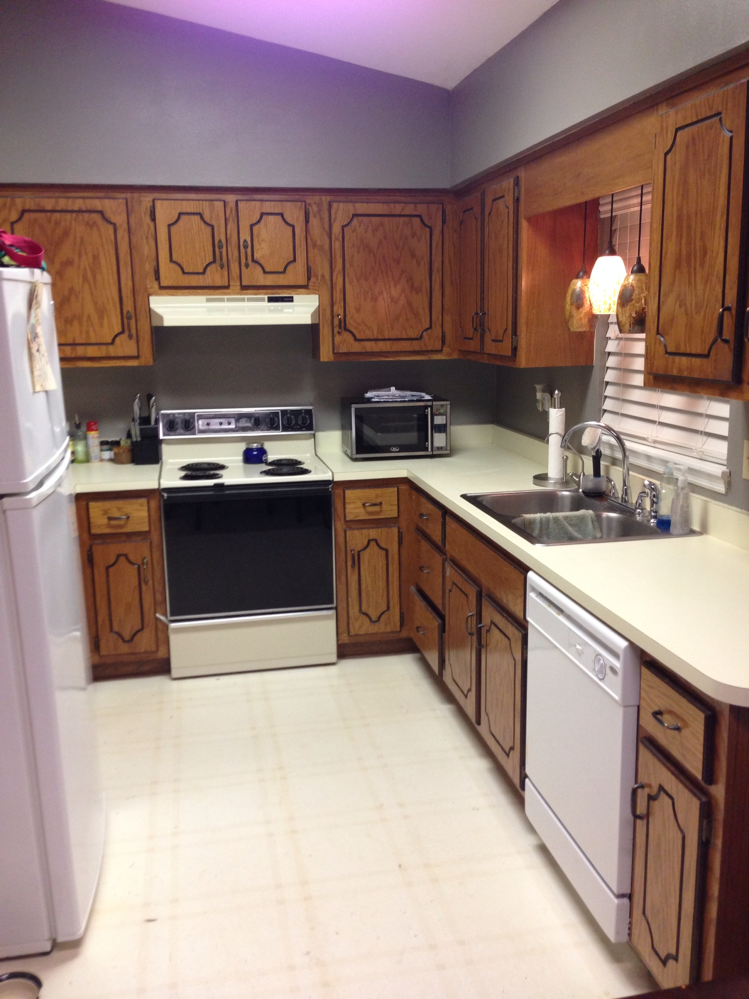 diy painted kitchen cabinets black pearl upcycled